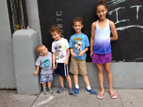 My four kidlets - NYC July 2013
