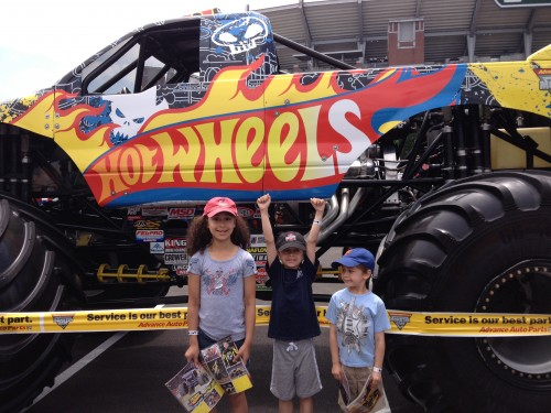 Hot Wheels Monster Truck And Three of My Four Kidlets