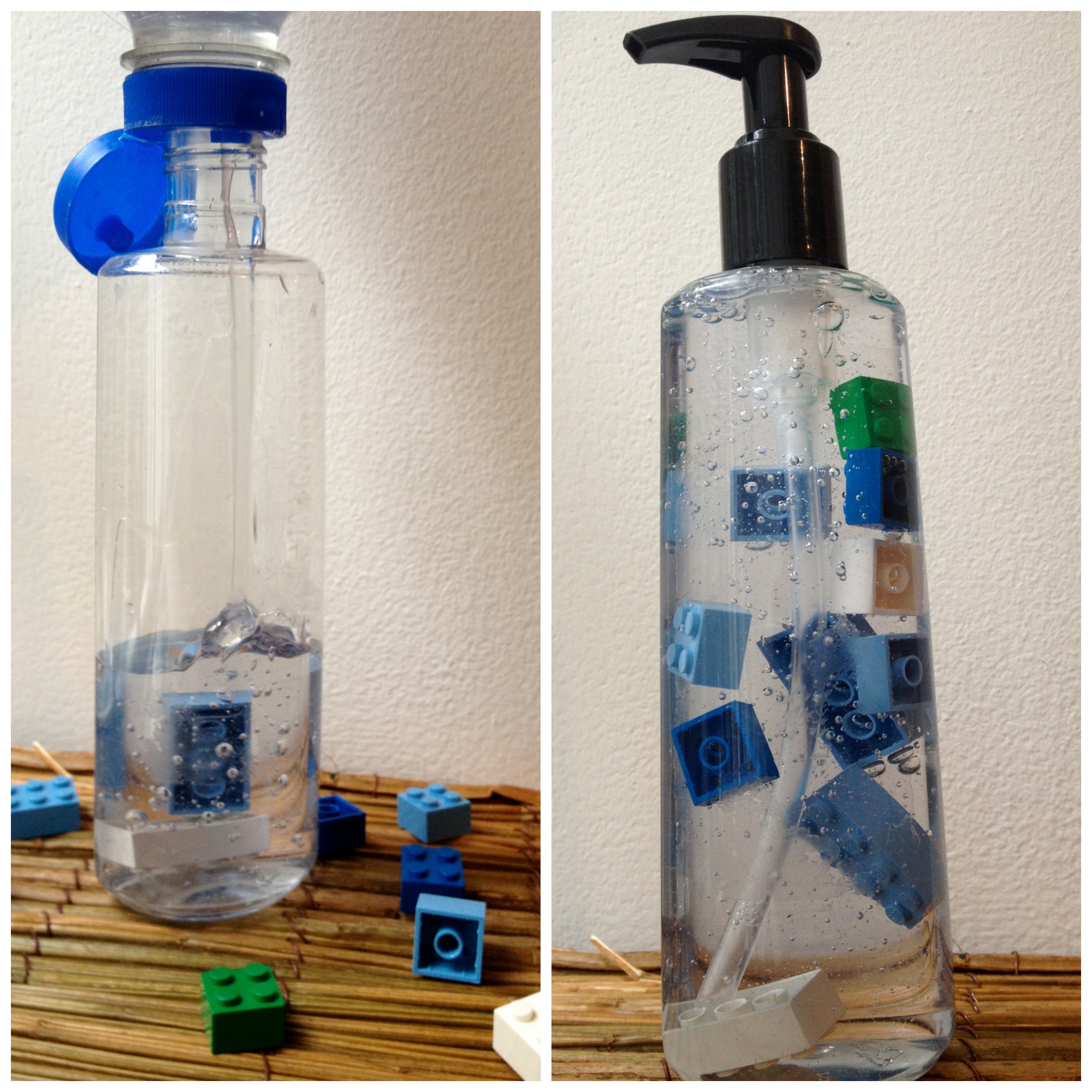 LEGO hand soap dispenser tutorial step two